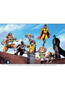 Superhelden Jam-Poster